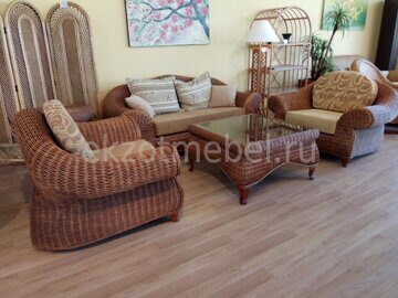 Мгкая мебель из натурального ротанга Puerta (5)